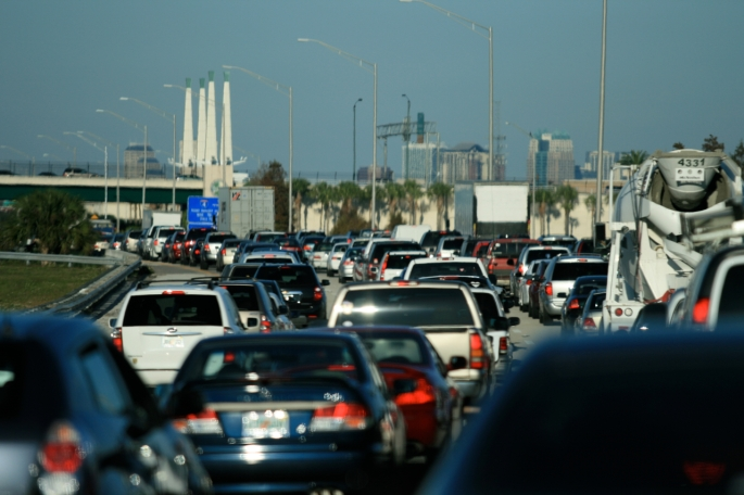 Traffic on Interstate 4 in Southwest Orlando--the usual mess.